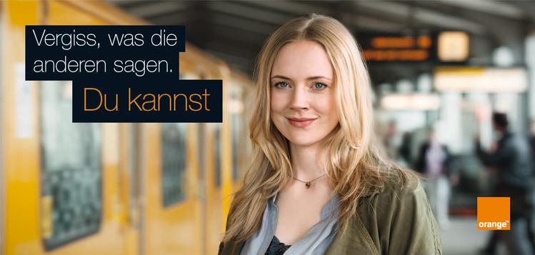 Orange-Werbung; Quelle: publicis.ch